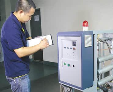 水温机半成品登记生产进度和部分功能检测结果登记
