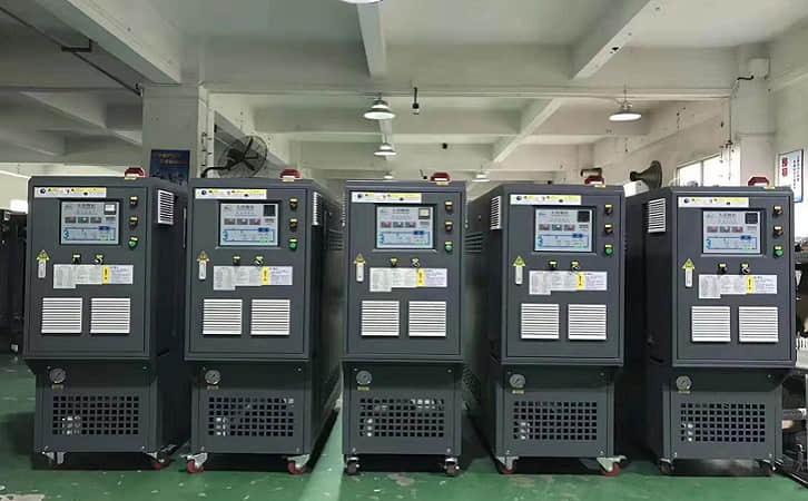 PLC模温机配套挤塑泡沫板生产线的应用案例