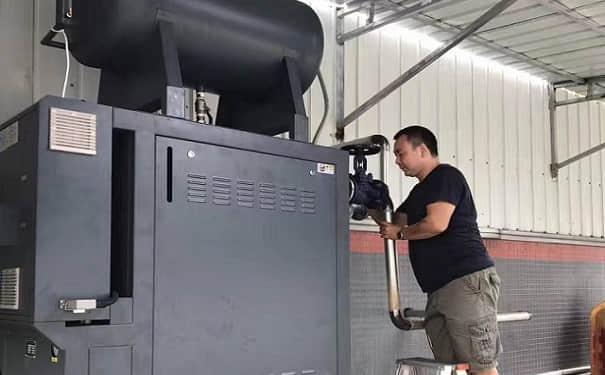 导热油加热器室外机安装工艺