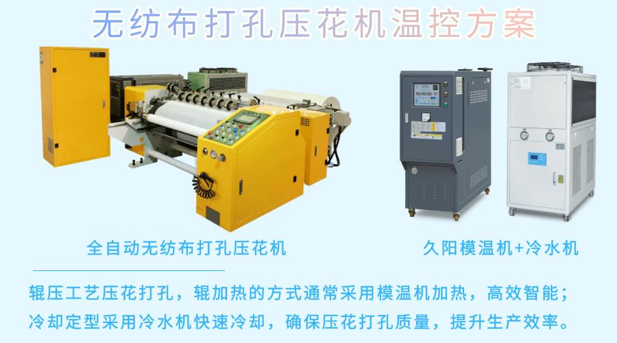 全自动无纺布打孔压花机专用模温机冷水机